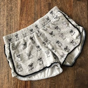 5/$30 100% cotton Justice Gray Shorts size 6/7 Y
